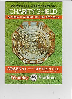 1979 F.A.Charity Shield.Arsenal v Liverpool.