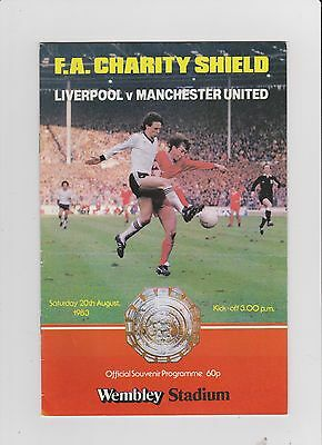 1983 F.A.Charity Shield.Liverpool v Manchester United.