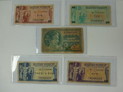 MPC Series 692 Lot Military Currency
