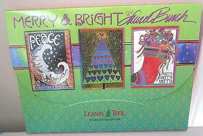 Laurel Burch Merry & Bright 20 Fine Art Christmas Cards  Assortment Peace Noel