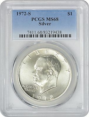 1972-S Silver Eisenhower Dollar Ike MS68 PCGS 68 Mint State