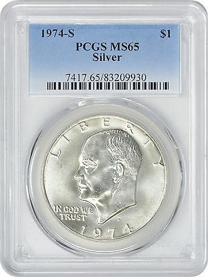 1974-S Silver Eisenhower Dollar Ike MS65 PCGS 65 Mint State
