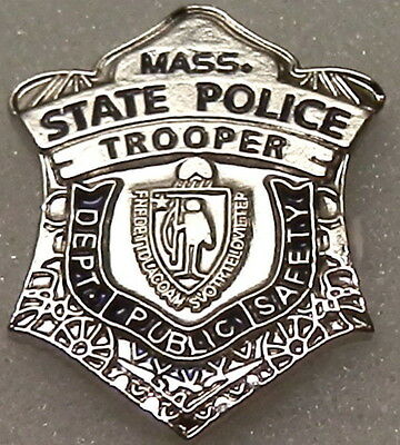 Massachusetts MA State Police TROOPER mini badge LAPEL PIN MASP