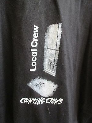 Counting Crows Local Crew Concert Tour Mens Xl Black T-Shirt