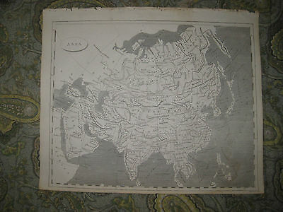 Antique 1805 Asia Copperplate Map Fine Condition Arabia India China Japan Korea