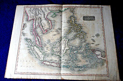 1814 East India Isles SE ASIA large antique map Philippines Indochina Thomson's
