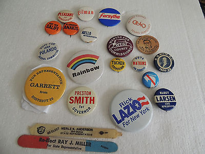 21 assorted Political Campaign buttons memorabilia 60's on up