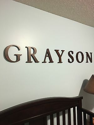 Pottery Barn Kids Name Grayson Boys Room Nursery Baby Boy Wooden Wall Letters