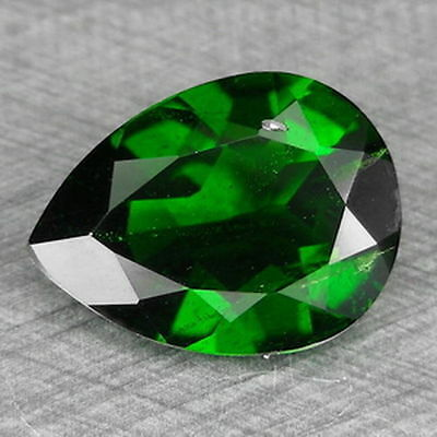 3.17cts 9x12mm Pretty Pear Chrome Green Natural Chrome Diopside Loose Gemstones