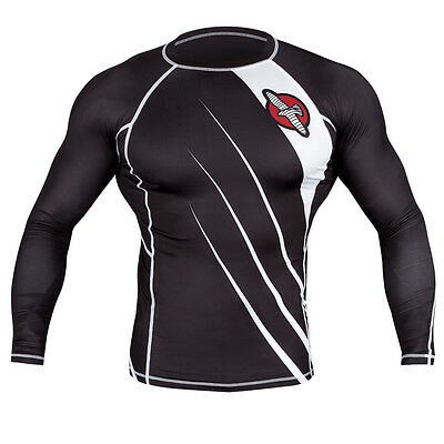 Hayabusa Recast Series Long Sleeve Rashguard - Small - Black/White