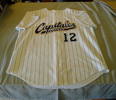 2005 David Lipson Quebec Capitales Can-Am League Game Worn Used Baseball Jersey