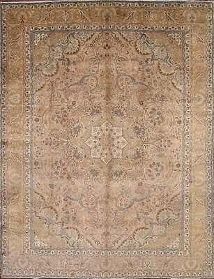 Antique Geometric Muted Color 10x13 Tabriz Persian Oriental Area Rug 12' 6 x 9'8