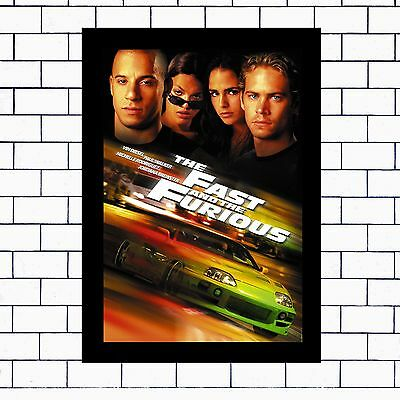 The Fast And Furious -  A3 / A4 - Framed Or Unframed Poster