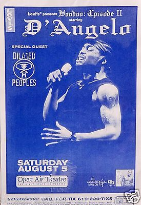"D'angelo /dilated Peoples ""voodoo:episode Ii Tour"" 2000 San Diego Concert Poster"