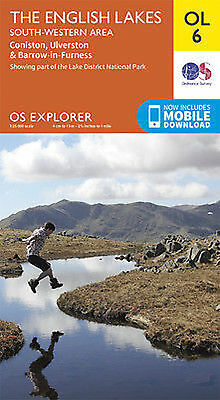 OL6 Lake District South Western Lakes Ordnance Survey Explorer Map OL 6