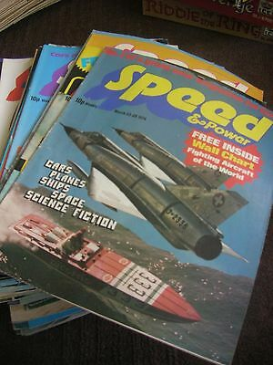 Collection/job Lot Of Speed & Power Comic/magazines