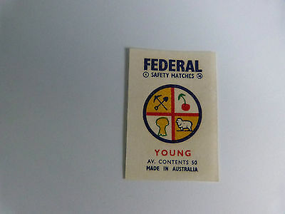 Federal Safety Match Box Label - Young