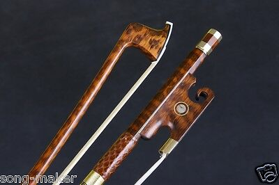 4/4 Snakewood Violin Bow Straight Pretty inlay AAA horse hair Yinfente #S12