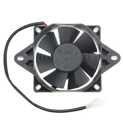 Eléctrico Engine 12V Cooling Fan Radiator Motorcycle ATV Go Kart Quad 150-250cc