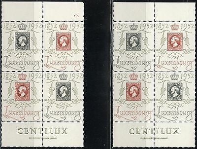 Luxmbourg Centilux Lot Of Four Sets  Scott#278/79  Mint Never  Hinged