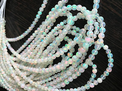 "16"" Natural Fire Play Ethiopian Welo Opal Round gemstone beads Strand WOB2"