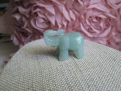 ~ Natural Green Aventurine Gemstone Cabochon - Carved Elephant Shape ~