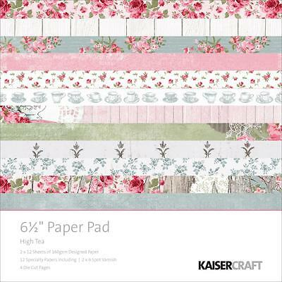 "Kaisercraft HIGH TEA - 6.5"" x 6.5"" Paper Pad - 40 pages"