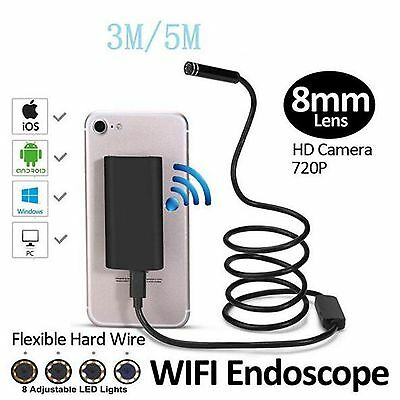 Endoscope Inspection Camera HD 2MP Wifi Wireless Waterproof Tablet PC Android