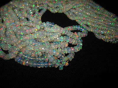 Natural Fire Play Ethiopian Welo Opal gemstone Faceted beads Strand WOB5