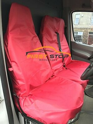 Peugeot Expert Hdi Heavy Duty Red Waterproof Van Seat Covers 2+1