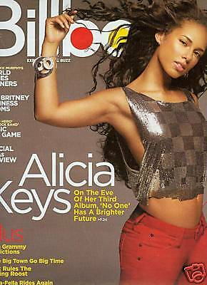 ALICIA KEYS Frameable BILLBOARD COVER Promo Poster Ad