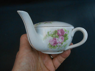 Early 20th c. ** PINK ROSES ** Invalid Feeder/Feeding Cup