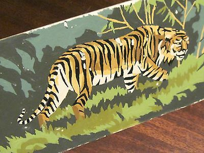 Vintage paint by number completed Tiger