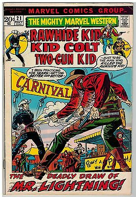 Mighty Marvel Western #21 1972 Severin Ayers Bronze Age!