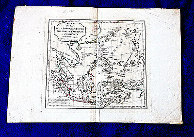 c 1795 antique Map PHILIPPINES Carolines Mariannas SE Asia w color DeVaugondy