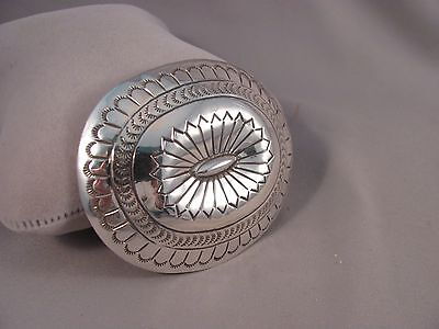 Navajo Handmade Sterling Silver Belt Buckle by Carson Blackgoat