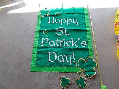 Quality festive sewn edged decorative Saint Patrick's Day wall hanging banner