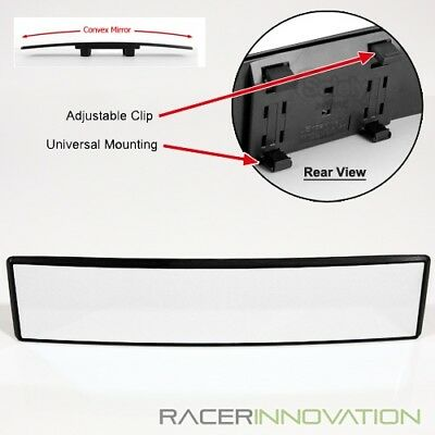 JDM 300mm Convex Curve Clear Lens Wide-Angle Clip-on Rear View Rearview Mirror