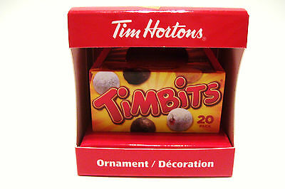 2014 Tim Hortons Christmas Ornament TIMBITS NIP Retired Timmys Stocking Stuffer