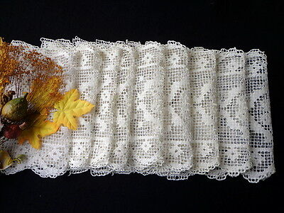 SET of 9 Vintage Italian Handmade Cream White Lace Placemats Excellent Condition