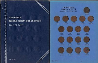 1920-1967 Canada Small Cent Coin Collection complete  in Whitman folder
