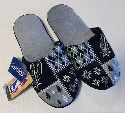 Pair of San Antonio Spurs Ugly Slide Team Logo Slippers NEW NBA - House shoes!
