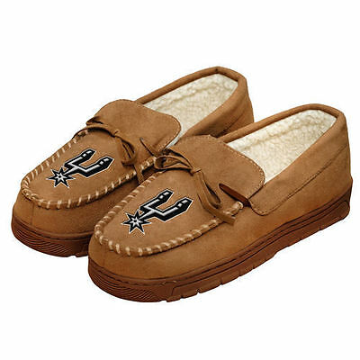 Pair of San Antonio Spurs Moccasin Team Logo Slippers NEW NBA - House shoes!