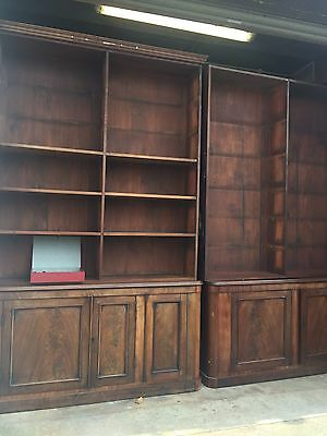 Antique Victorian Library Bookcase Shelving Retail Display Open Front 9ft Tall