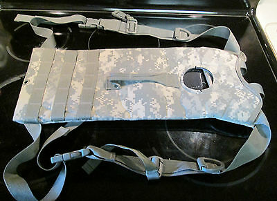 US Army ACU MOLLE II Hydration Carrier Military Surplus Holds 100 oz NO bladder