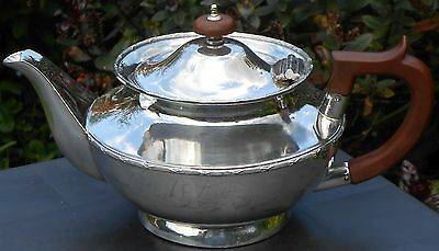 Edwardian Silver Plated Tea Pot - Sheffield - Slightly Worn But Ok