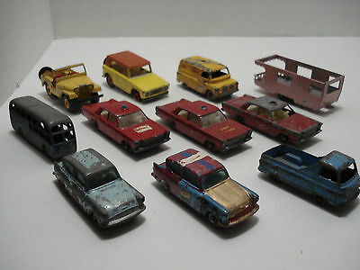 MATCHBOX LOT OF 11 VEHICLES MADE IN ENGLAND 1960's VINTAGE