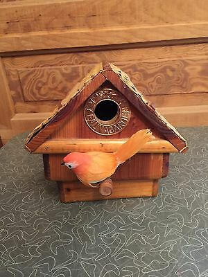 1996 Haddenham Fauna Garden Wooden Bird House