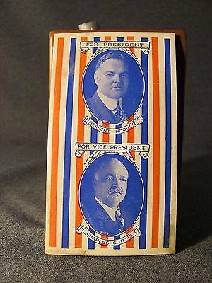 Herbert Hoover and Charles Curtis Campaign Needle Case