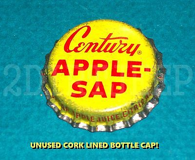 Century Apple Sap Cider Flavored Soda Vintage Drink Pop Cork Unused Bottle Cap
